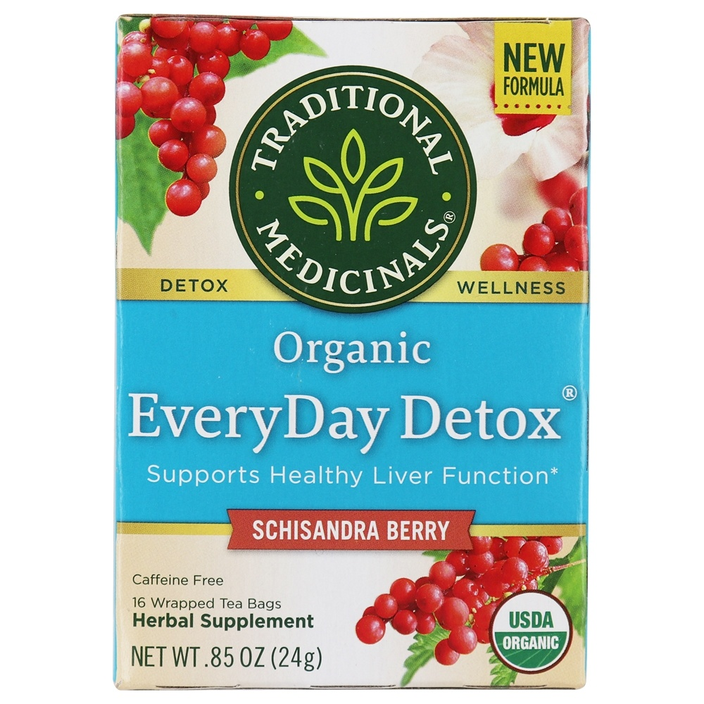 Traditional Medicinals - EveryDay Detox Tea - Promotes Healthy Liver Function - 16 Tea Bags