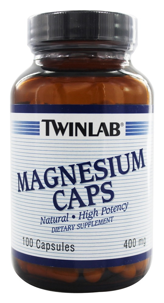 Twinlab - Magnesium Caps High Potency 400 mg. - 100 Capsules