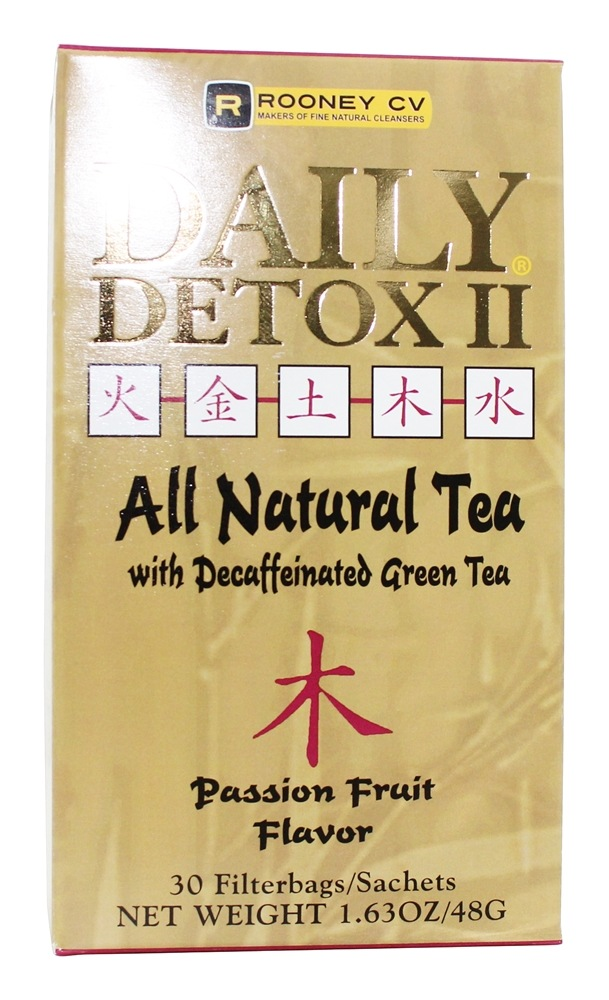 Wellements - Daily Detox II All Natural Tea Passion Fruit - 30 Tea Bags