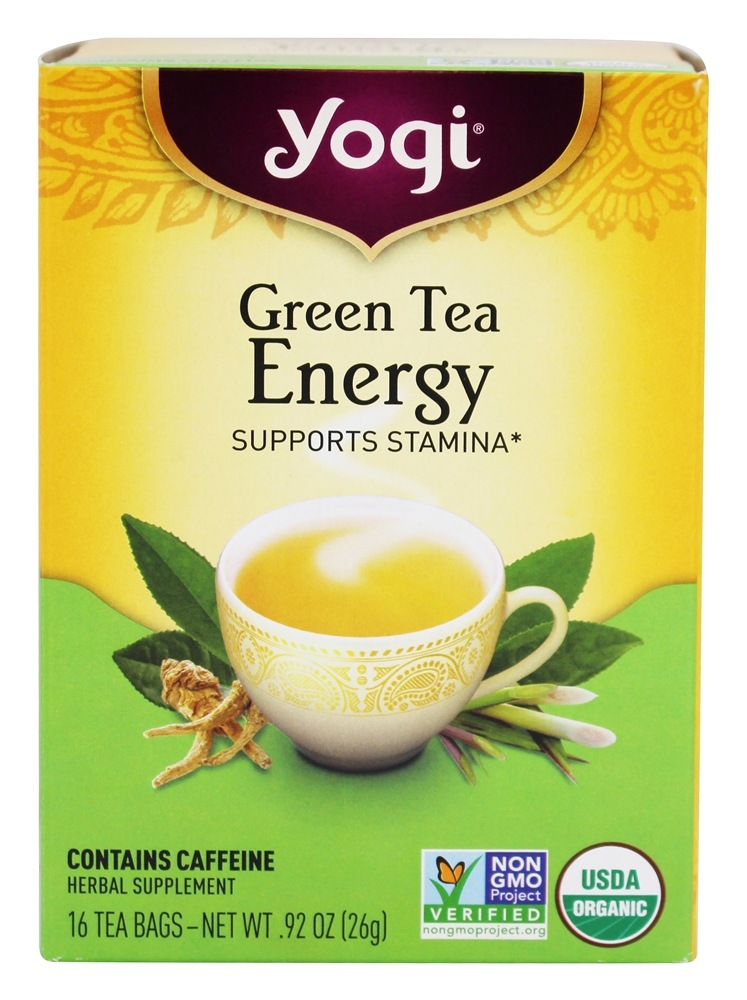 Yogi Tea - Green Tea Energy with Organic Green Tea - 16 Tea Bags