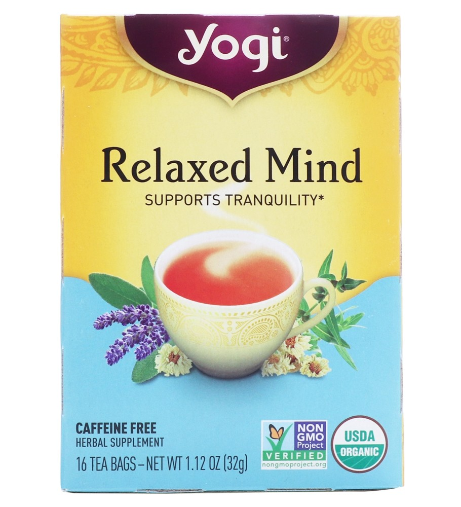 Yogi Tea - Relaxed Mind Tea with Organic Sage - 16 Tea Bags Formerly Meditative Time