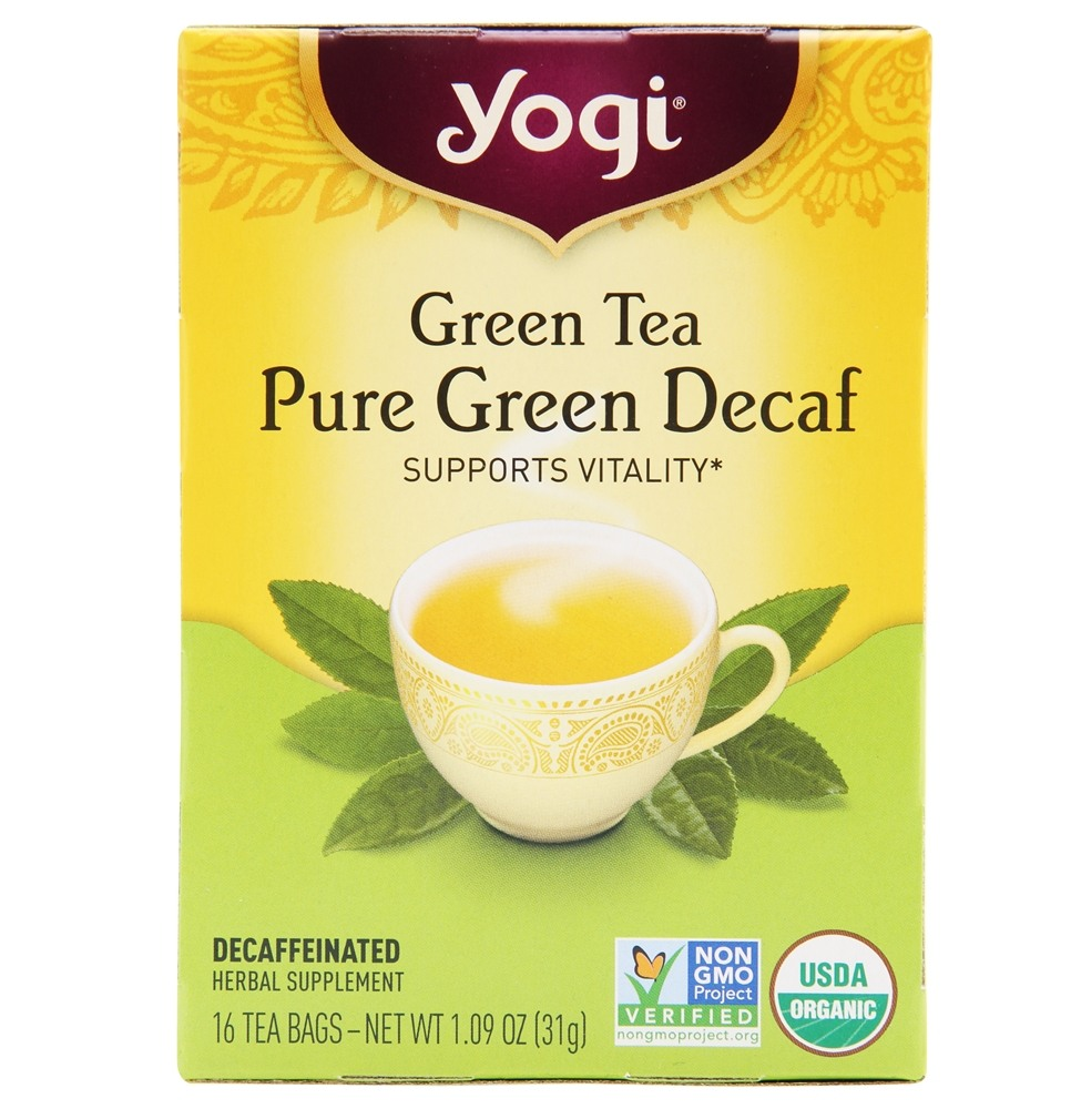 Yogi Tea - Green Tea Pure Green Decaf - 16 Tea Bags Formerly Simply Green Decaf