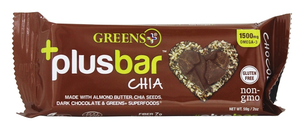 Greens Plus - +PlusBar Chia Chocolate - 2 oz.