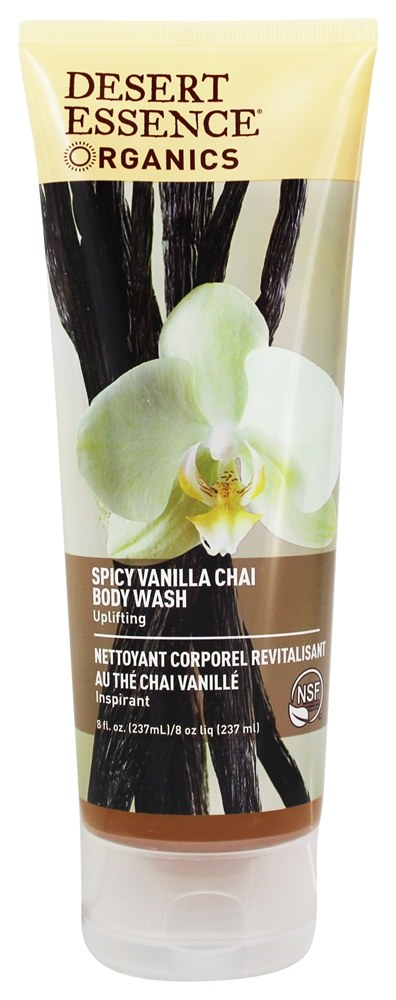 Desert Essence - Body Wash Spicy Vanilla Chai - 8 oz. LUCKY PRICE