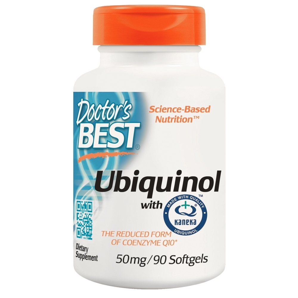 Doctor's Best - Best Ubiquinol featuring Kaneka's QH 50 mg. - 90 Softgels