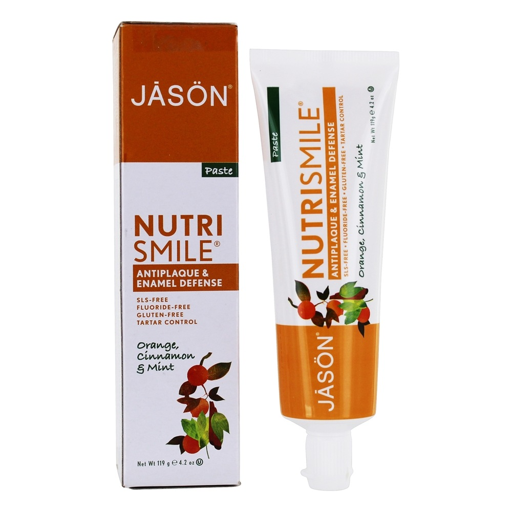 Jason Natural Products - Nutrismile All Natural Ester-C Toothpaste Orange, Cinnamon and Mint Flavor - 4.2 oz.