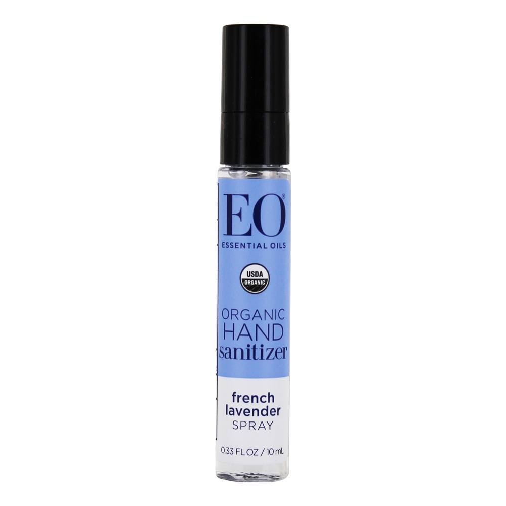 EO Products - Hand Sanitizer Spray Travel Size Organic Lavender - 0.33 oz.
