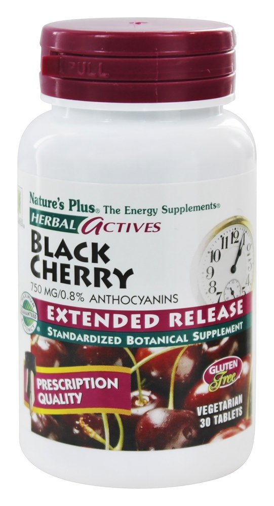 Nature's Plus - Herbal Actives Extended Release Black Cherry 750 mg. - 30 Vegetarian Tablets