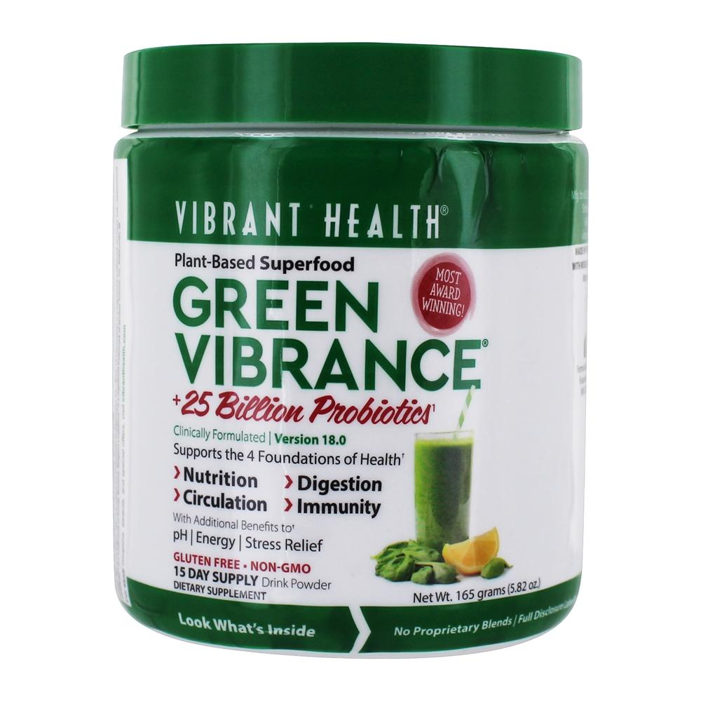 Vibrant Health - Green Vibrance Version 14.3 Daily Superfood - 6.4 oz.