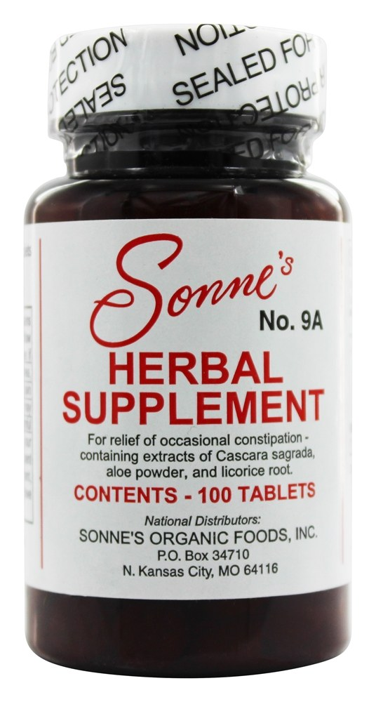 Sonne's - Herbal Supplement #9a - 100 Tablets
