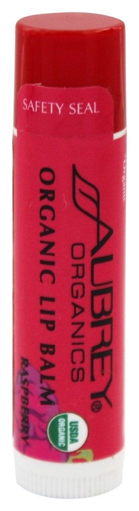 Aubrey Organics - Treat 'Em Right Organic Lip Balm Raspberry - 0.15 oz.