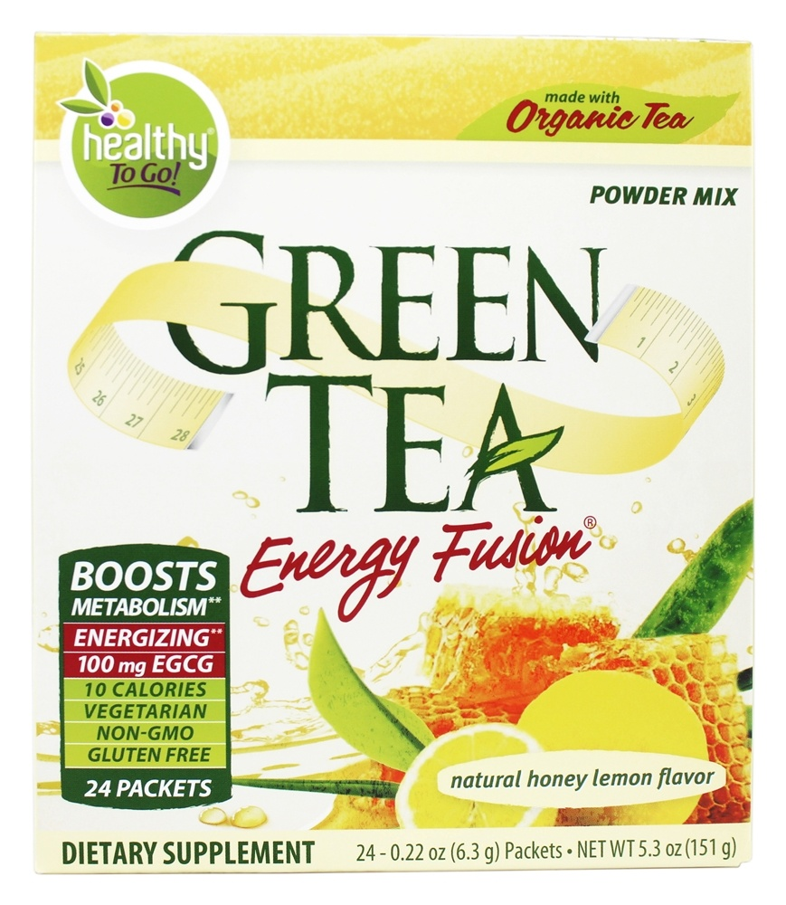 To Go Brands - Healthy To Go Green Tea Energy Fusion Honey Lemon - 24 Packet(s)