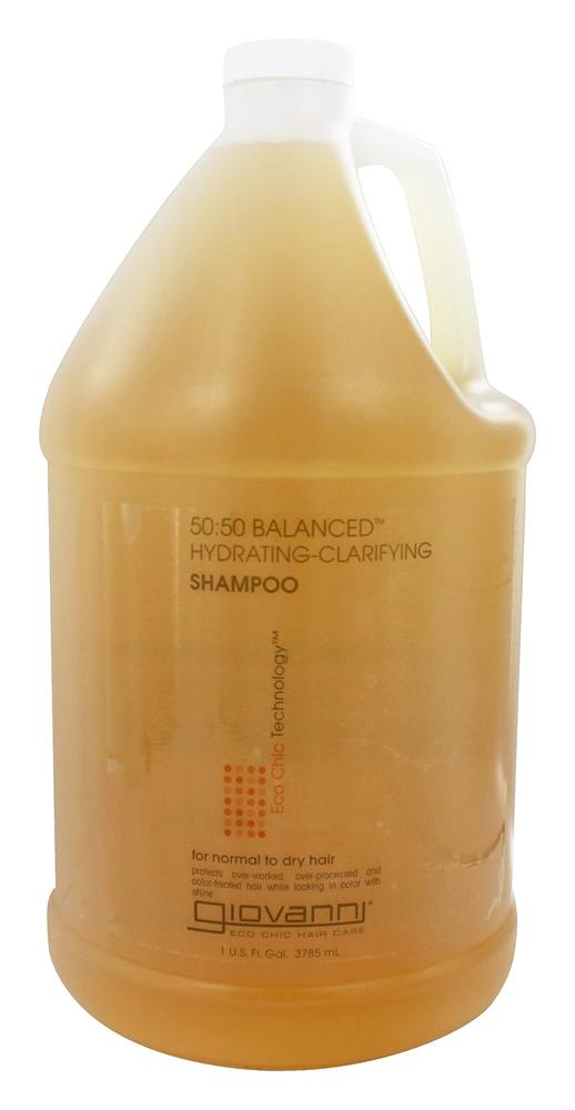 Giovanni - Shampoo 50:50 Balanced Hydrating-Clarifying For Normal To Dry Hair Gallon - 128 oz.
