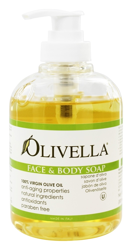 Olivella - Virgin Olive Oil Face and Body Liquid Soap - 10.14 oz.