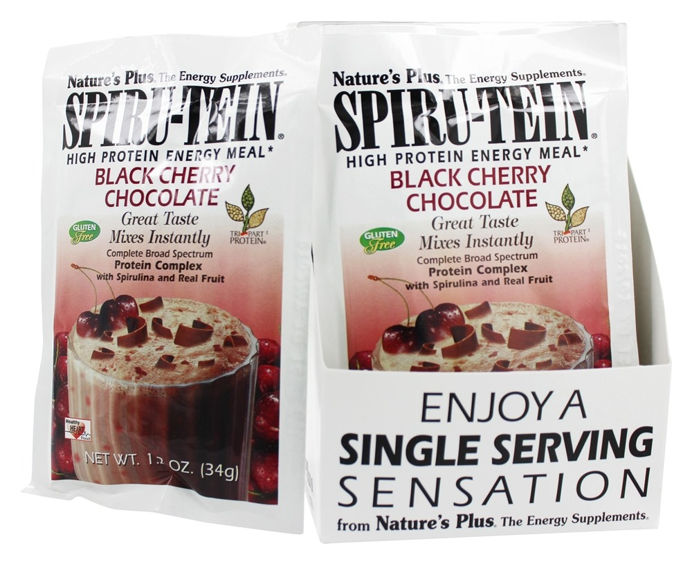 Nature's Plus - Spiru-Tein High Protein Energy Meal Black Cherry Chocolate - 1 Packet
