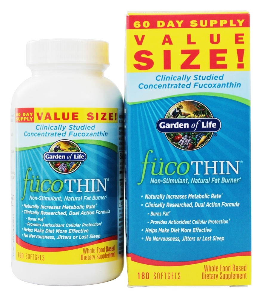 Garden of Life - FucoTHIN Concentrated Fucoxanthin - 180 Softgels Contains Brown Seaweed