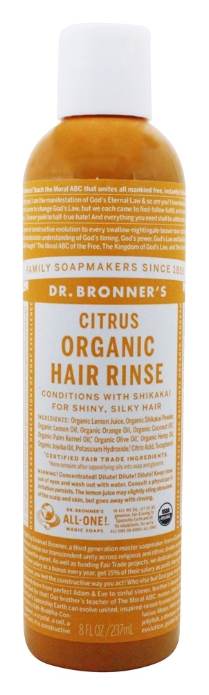 Dr. Bronners - Magic Shikakai Conditioning Hair Rinse Organic Citrus - 8 oz.