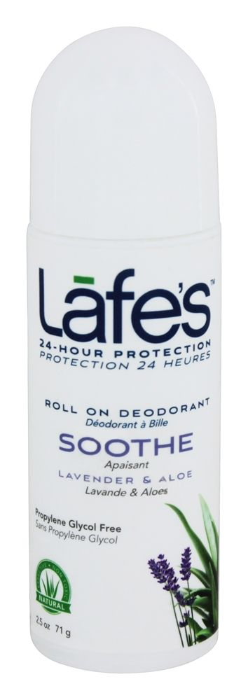 Lafe's - 24-Hour Protection Roll On Deodorant Soothe Lavender & Aloe - 2.5 oz.
