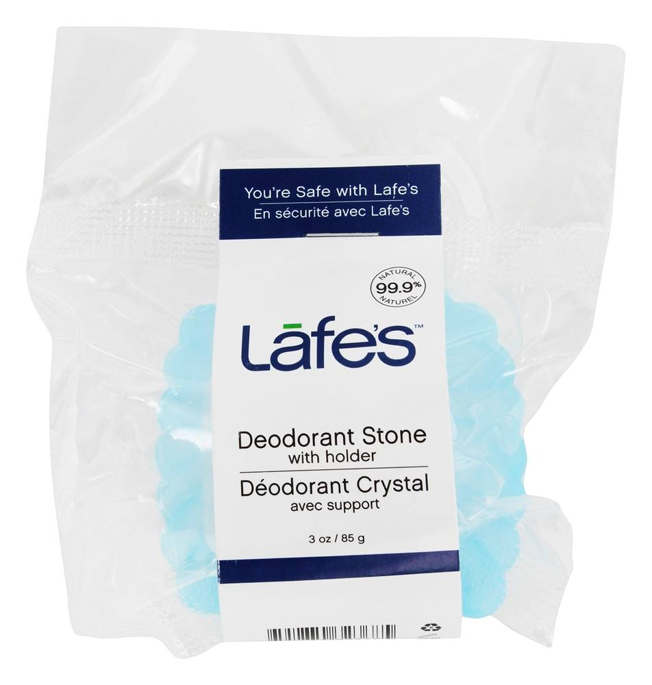 Lafes - Natural and Organic Deodorant Crystal Stone Fragrance-Free - 3 oz.
