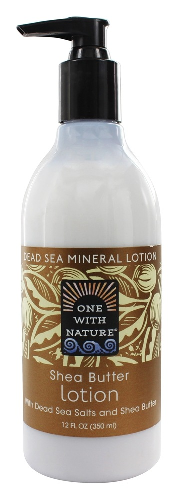 One With Nature - Dead Sea Mineral Hand & Body Lotion Moisturizing Shea Butter - 12 oz.