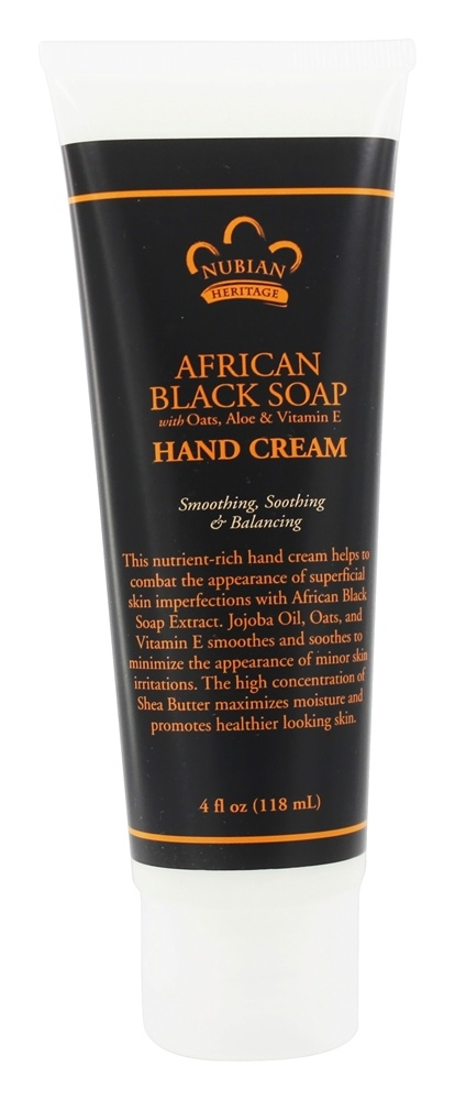 Nubian Heritage - Hand Cream African Black Soap - 4 oz.