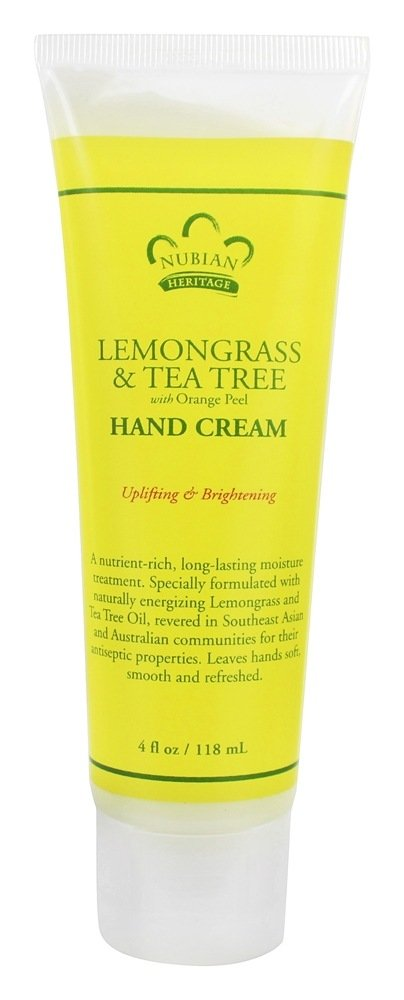 Nubian Heritage - Hand Cream Lemongrass & Tea Tree - 4 oz.