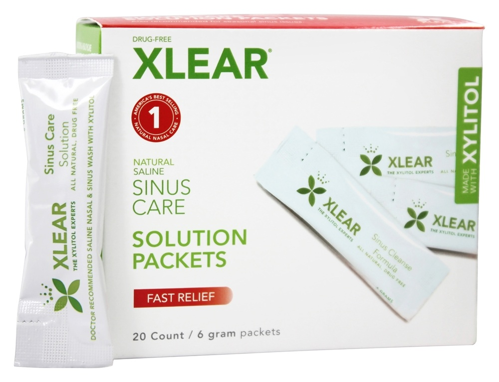 Xlear - NetiXlear Sinus Care Solution Refill Packets with Xyltiol - 20 Packet(s)