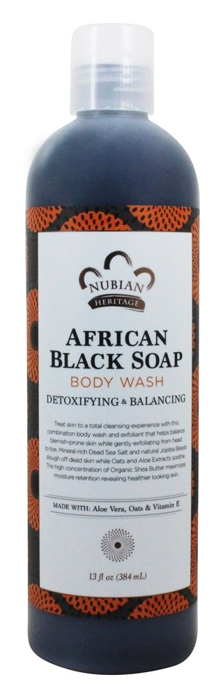 Nubian Heritage - Body Wash African Black Soap - 13 oz.