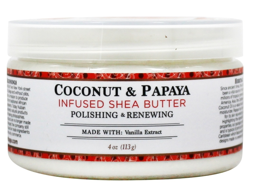 Nubian Heritage - Shea Butter Infused With Coconut & Papaya - 4 oz.