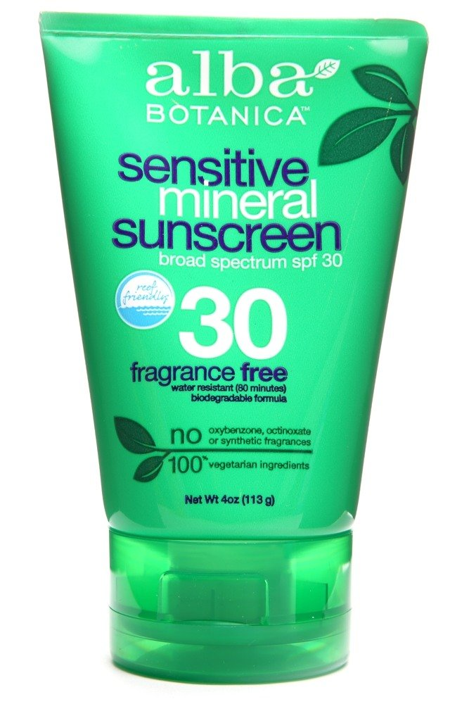 Alba Botanica - Very Emollient Mineral Protection Sunblock Fragrance Free 30 SPF - 4 oz.
