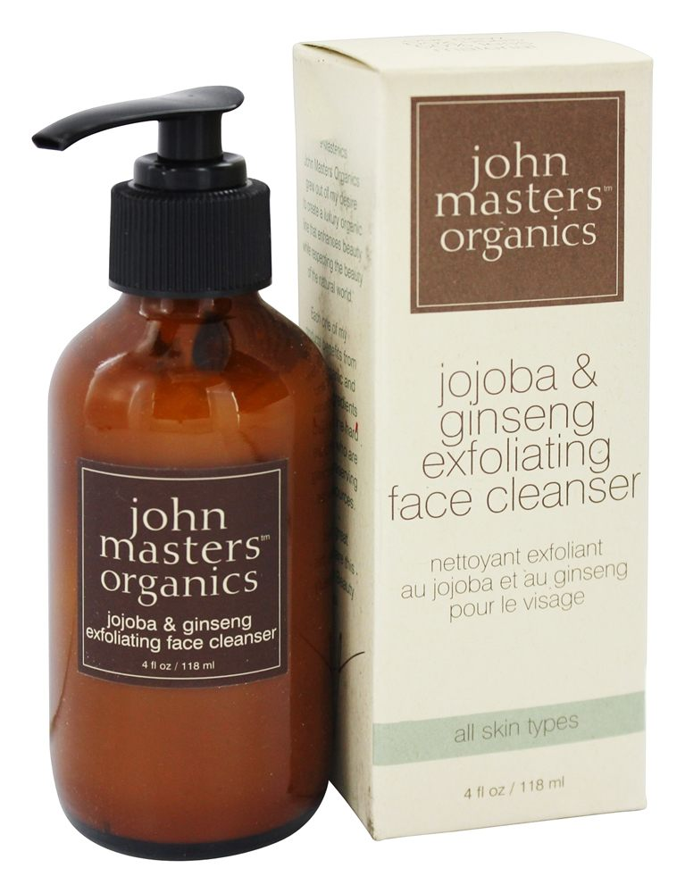 John Masters Organics - Face Cleanser Exfoliating Jojoba and Ginseng - 4 oz.