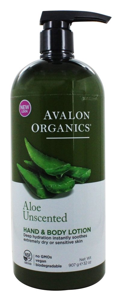 Avalon Organics - Hand & Body Lotion Aloe Unscented - 32 oz.