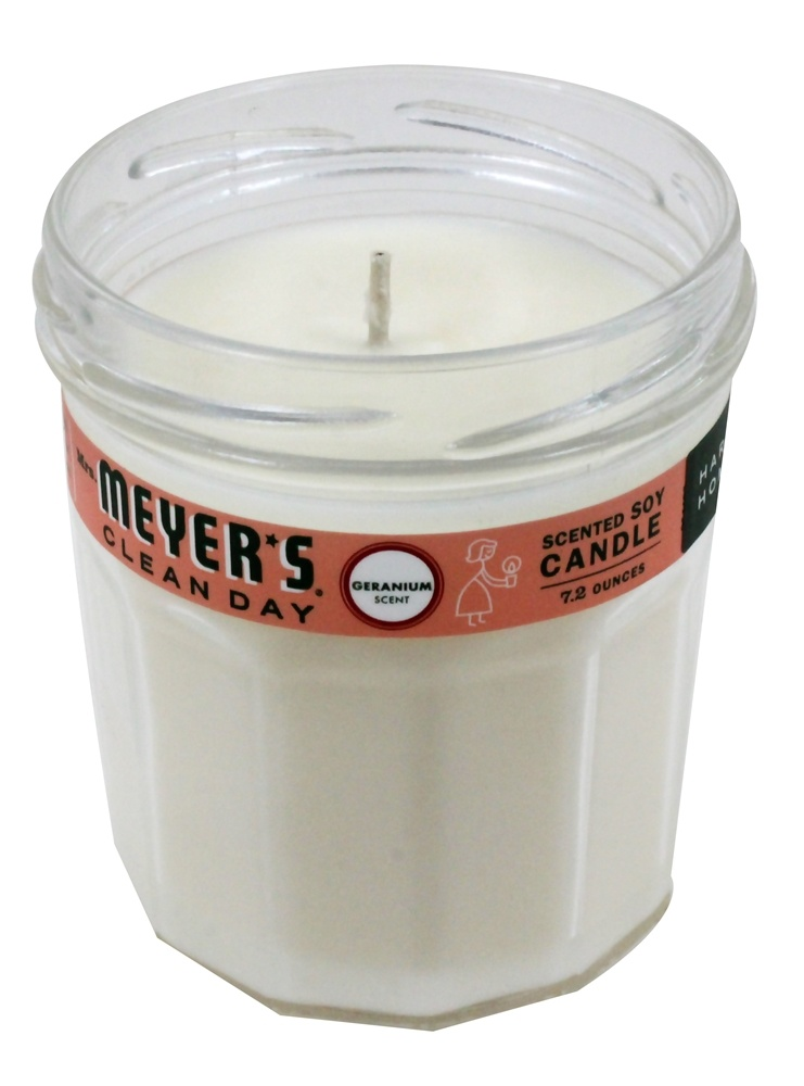 Mrs. Meyer's - Clean Day Scented Soy Candle Geranium - 7.2 oz.
