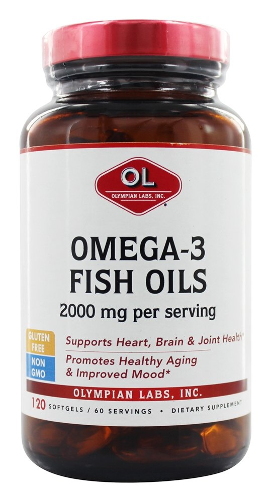 Olympian Labs - Omega-3 Fish Oils Naturopathic Division 2000 mg. - 120 Softgels