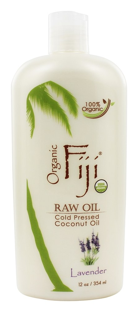 Organic Fiji - Organic Cold Pressed Coconut Oil Lotion for Face and Body Lavender - 12 oz. (formerly Virgin Coconut Oil)