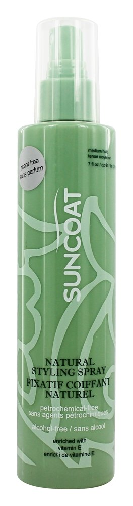 Suncoat - Sugar-Based Natural Hair Styling Spray Fragrance-Free - 8 oz.
