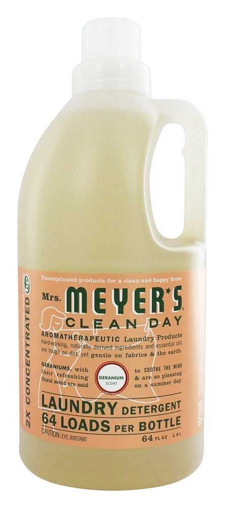 Mrs. Meyer's - Clean Day Laundry Detergent Concentrated 64 Loads Geranium - 64 oz.