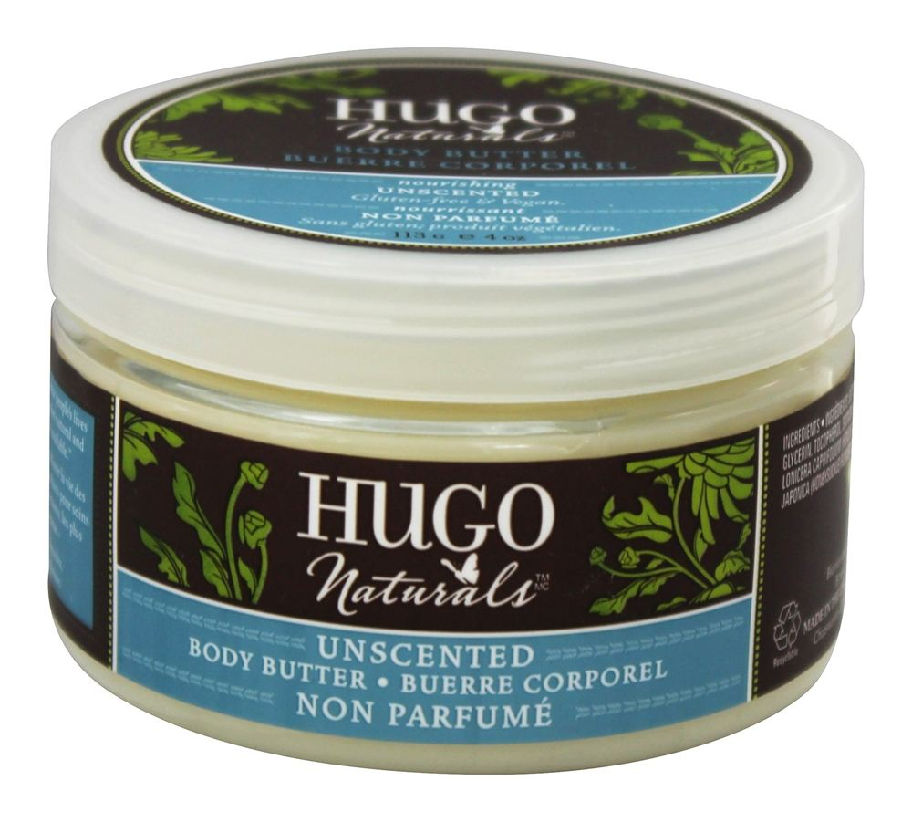 Hugo Naturals - Body Butter Unscented - 4 oz.