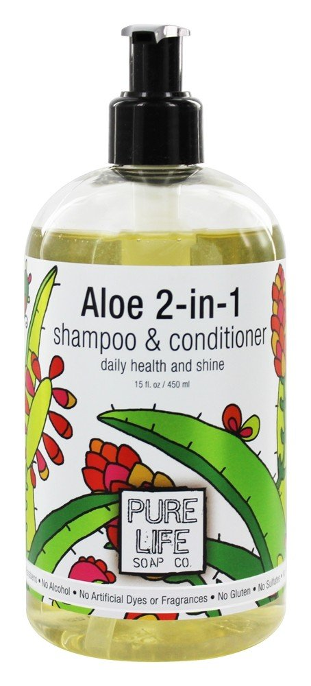 Pure Life Soap Co. - Aloe 2-in-1 Shampoo & Conditioner - 15 oz.
