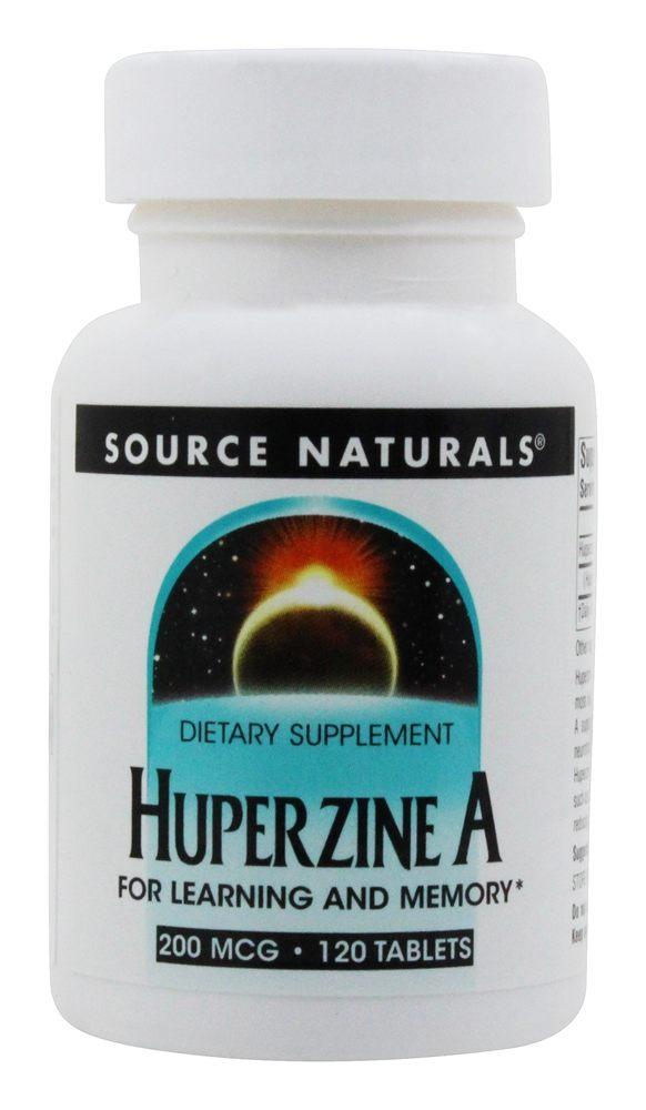 Source Naturals - Huperzine A For Learning And Memory 200 mcg. - 120 Tablets