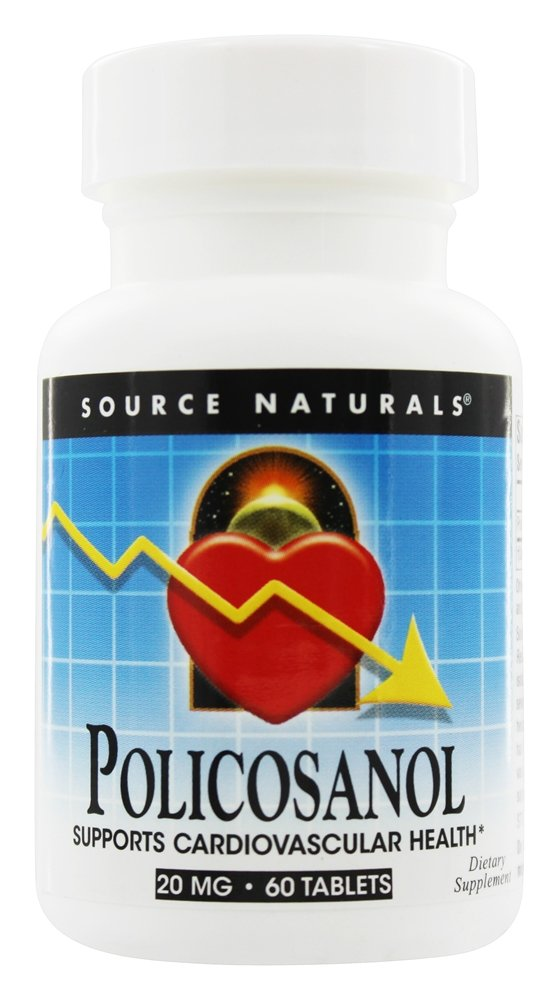 Source Naturals - Policosanol Supports Cardiovascular Health 20 mg. - 60 Tablets