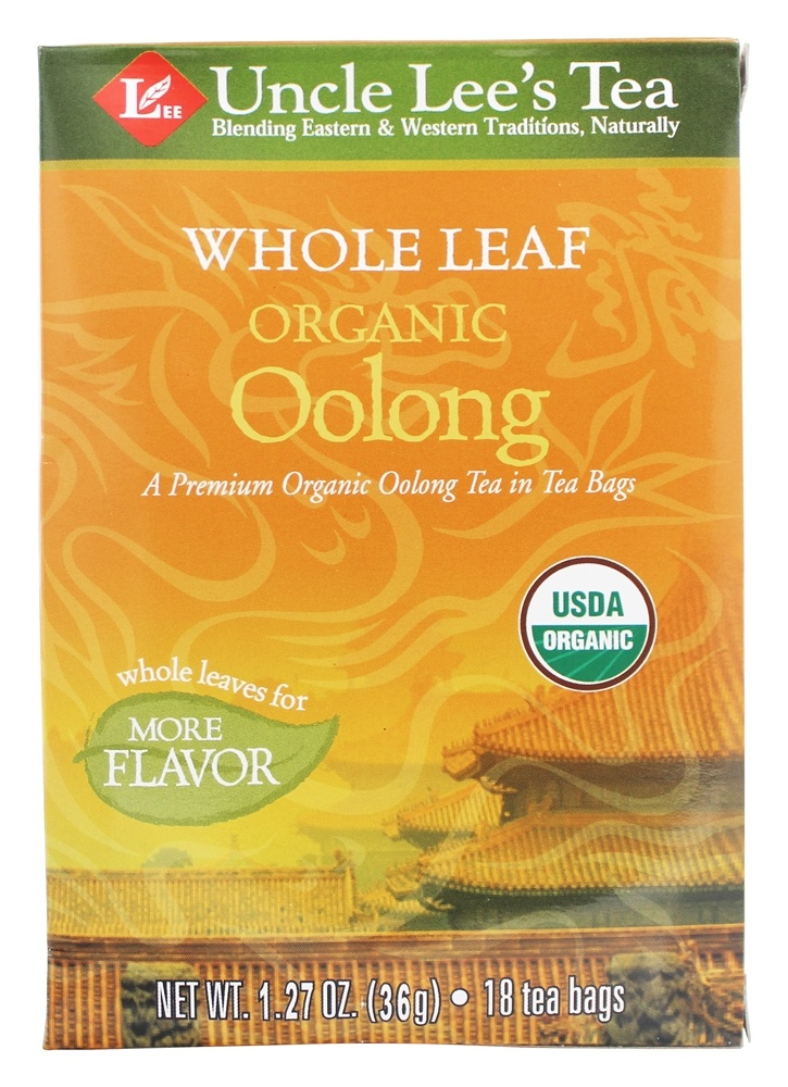 Uncle Lee's Tea - Whole Leaf 100% Organic Oolong Tea - 18 Tea Bags