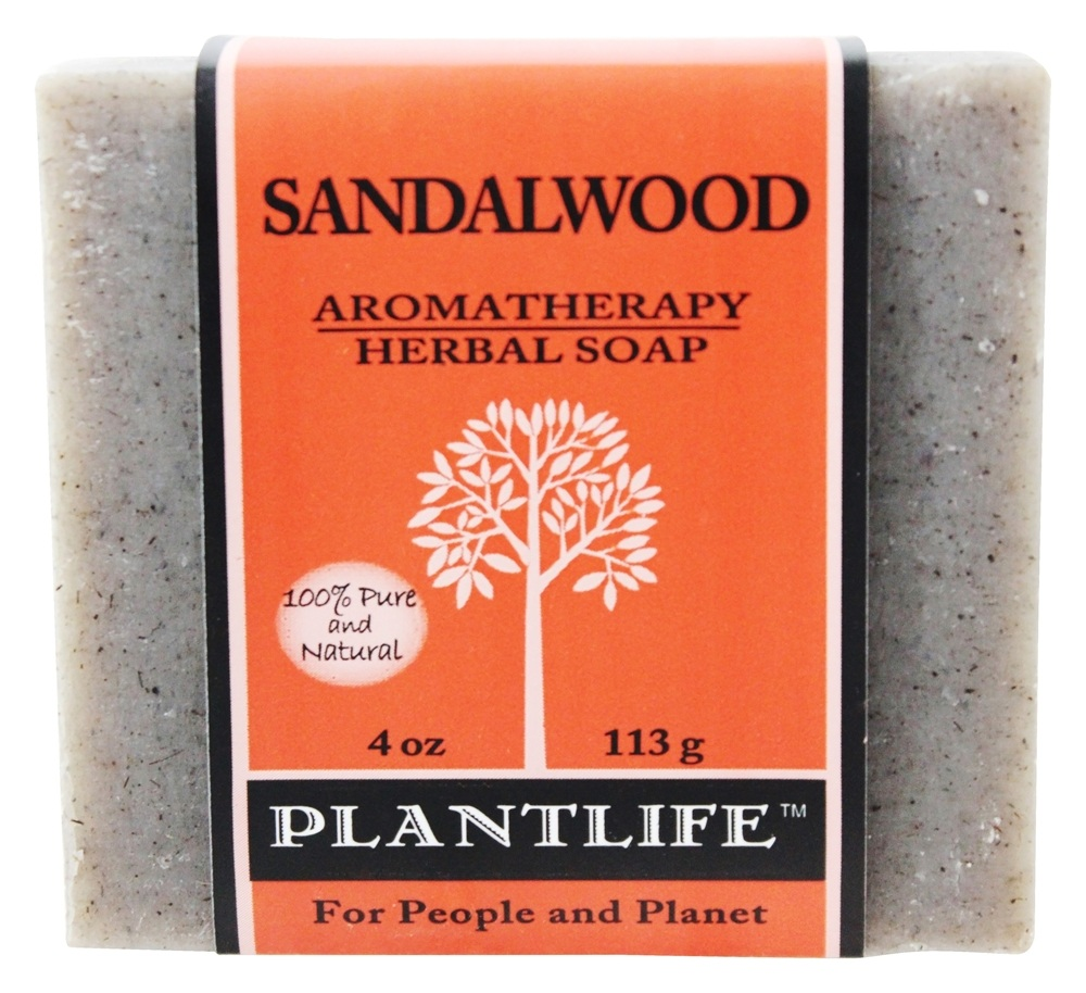 Plantlife Natural Body Care - Aromatherapy Herbal Soap Sandalwood - 4 oz.