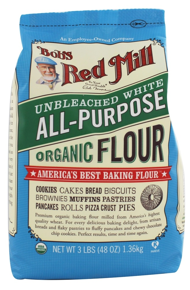 Bob's Red Mill - Organic Unbleached All-Purpose White Flour - 48 oz.