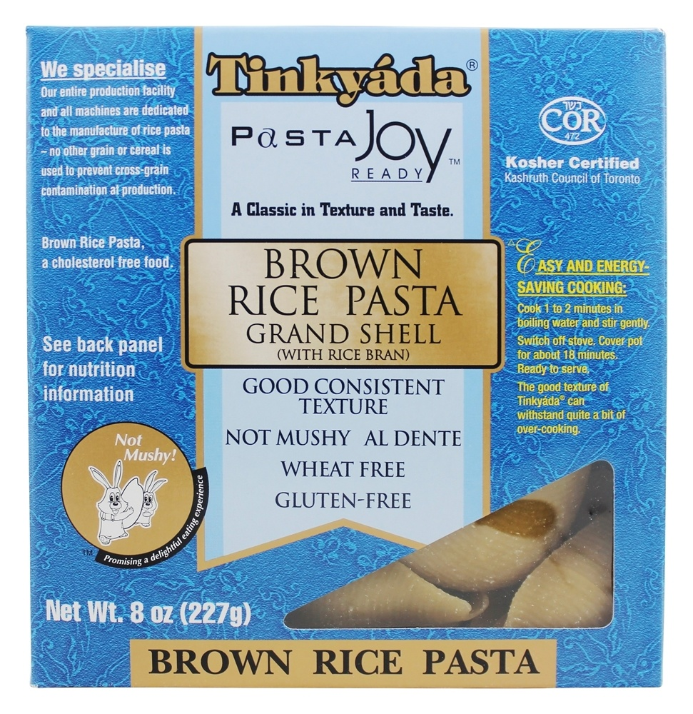 Tinkyada Pasta - Brown Rice Pasta Grand Shell With Rice Bran - 8 oz.