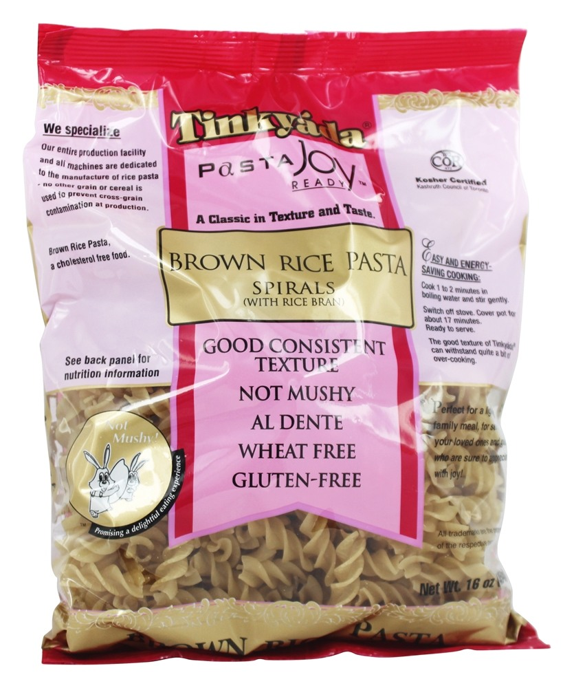 Tinkyada Pasta - Brown Rice Pasta Spirals With Rice Bran - 16 oz.