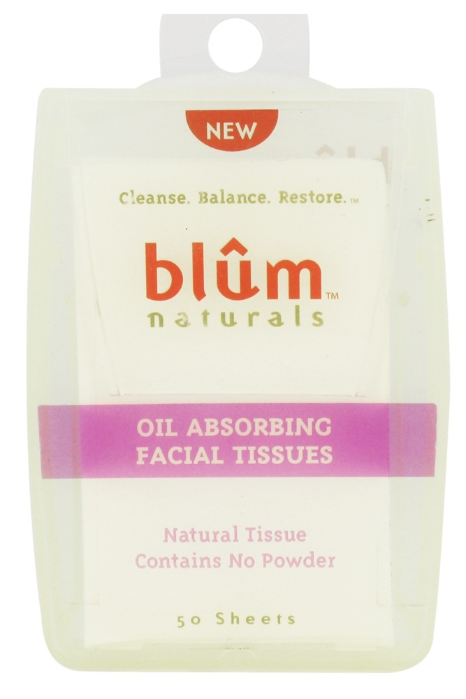 Blum Naturals - Oil Absorbing Facial Tissues - 50 Sheet(s)