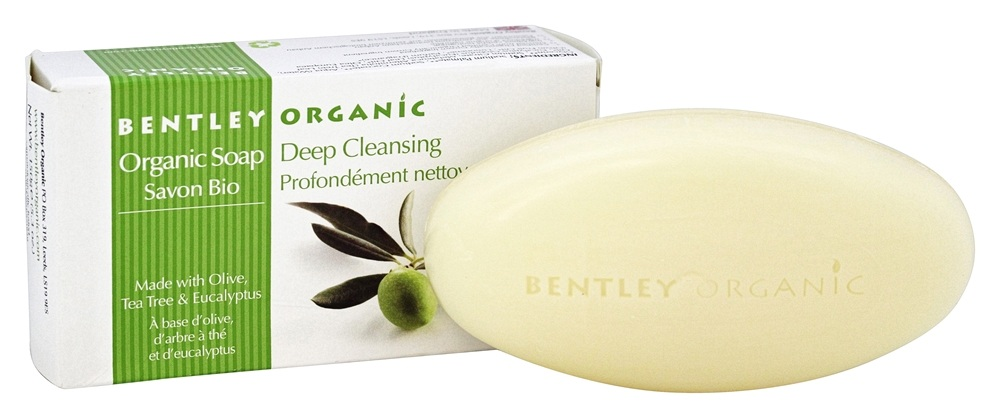 Bentley Organic - Bar Soap Deep Cleansing With Olive, Tea Tree & Eucalyptus - 5.3 oz.