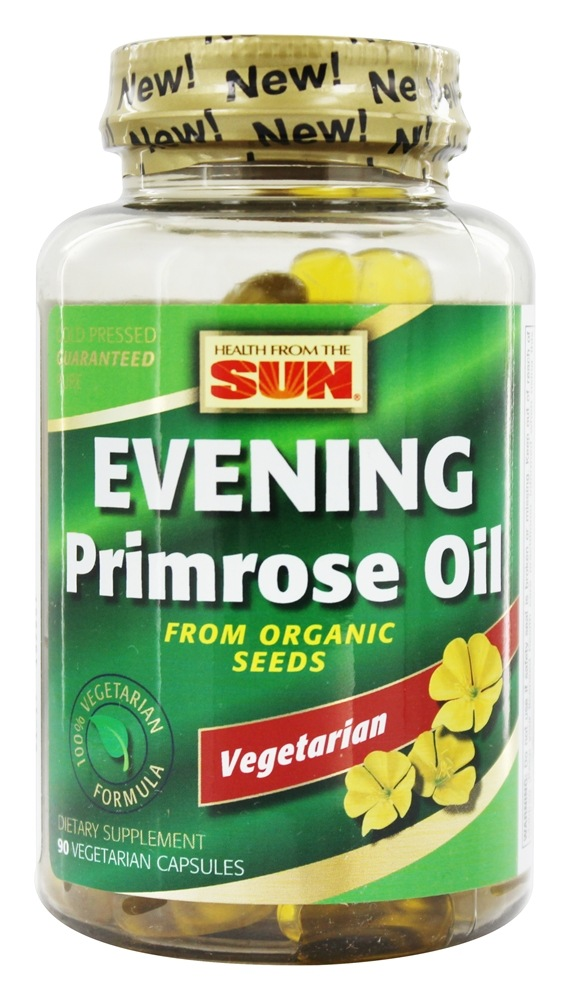 Health From The Sun - 100% Vegetarian Evening Primrose Oil From Organic Seeds - 90 Vegetarian Softgels