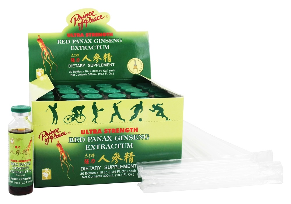 Prince of Peace - Ultra Strength Red Panax Ginseng Extractum 400 mg. - 30 Vial(s)